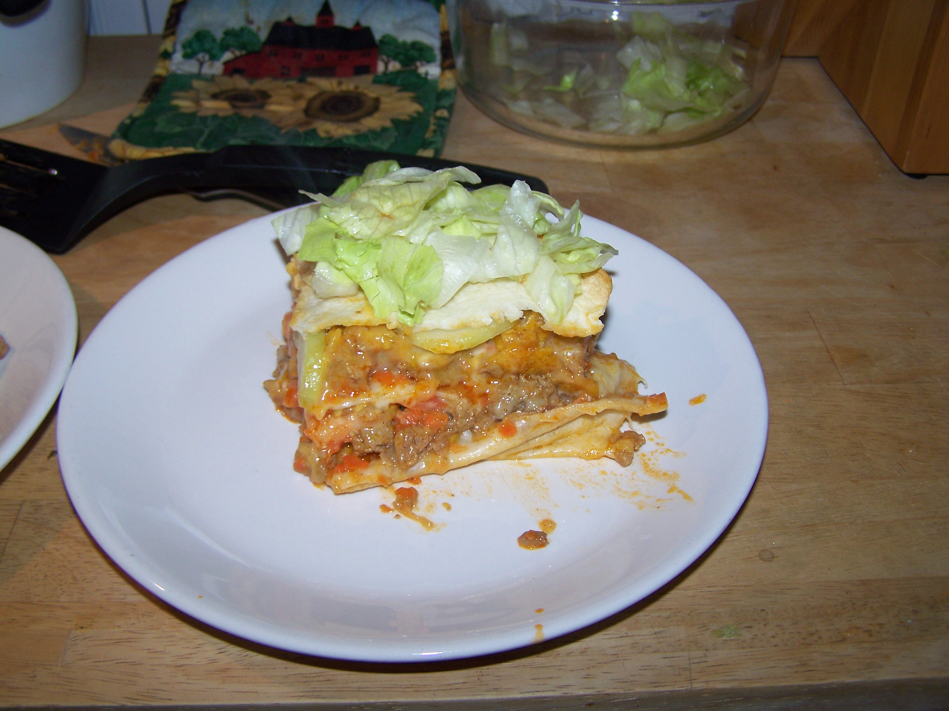My Kitchen, Lewiston, ME :: The first attempt at the Taco Lasagna(turkey, not beef)...or is it Lasagna Taco...regardless of the syntax, it was excellent