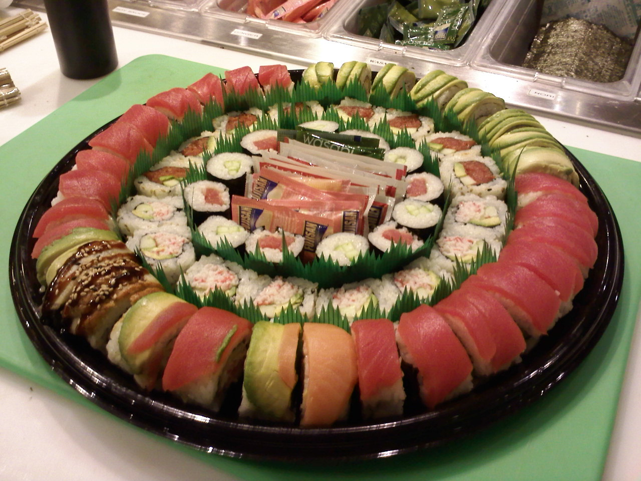 Newport beach :: sushi party platter i made at work