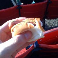 3/4 eaton fenway frank!!!  I gobbled it up really fast!!