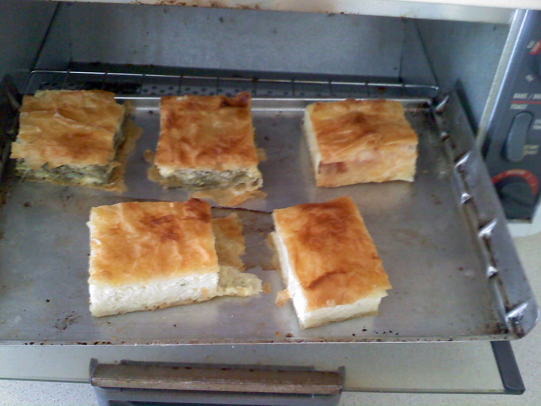 Nashua, NH :: Greek Spanakopita and Tiropita (Much like those spinach triangles that people serve as hors d'oeuvres)