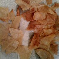 oven roasted tortilla chips.... one side salty and the other cininmin sugar!!!!  crispy and yumie!