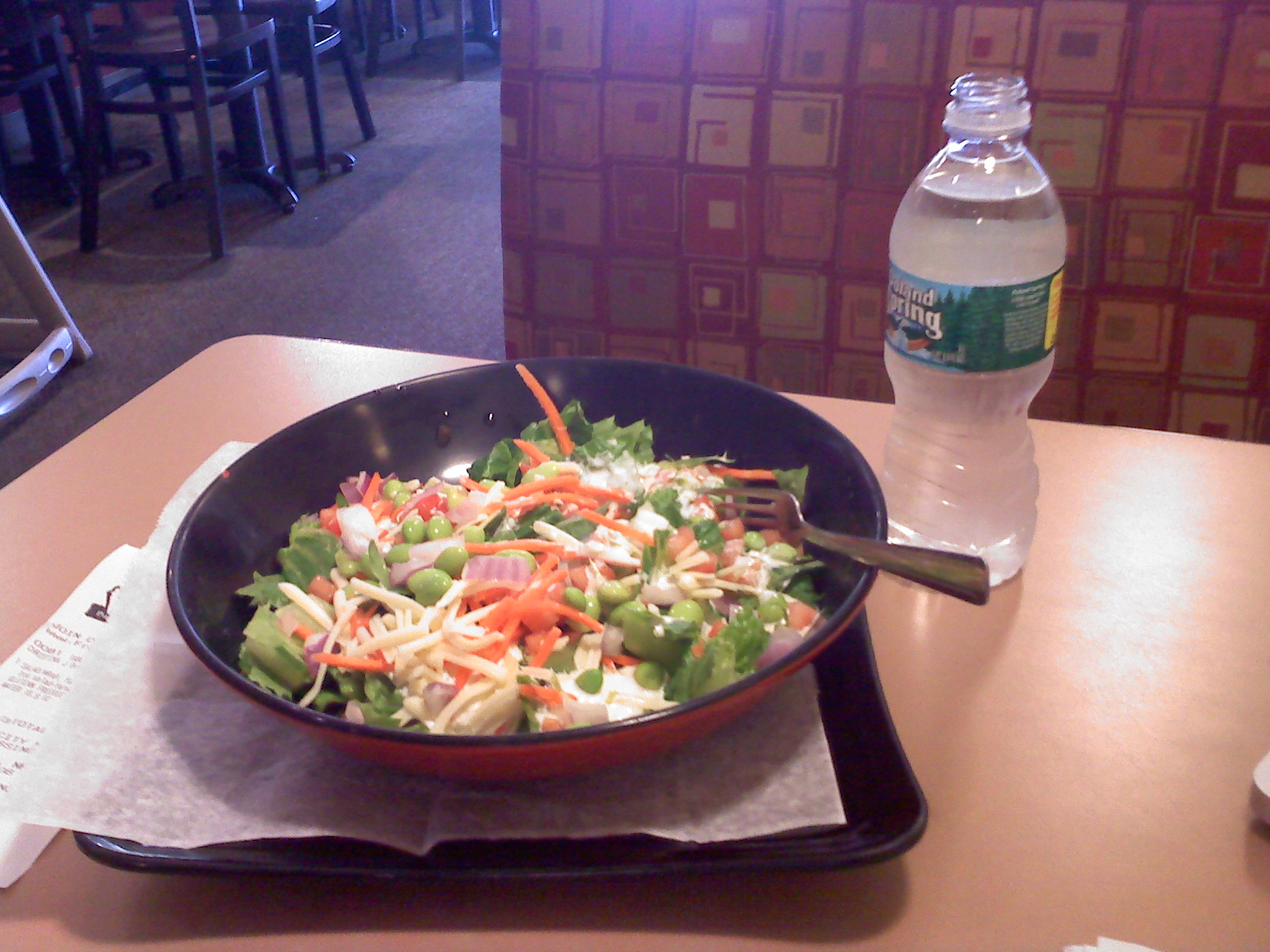 Fresh City, Fox Run Mall, Portsmouth, NH :: GF Farmers Market Salad with Poland Spring water