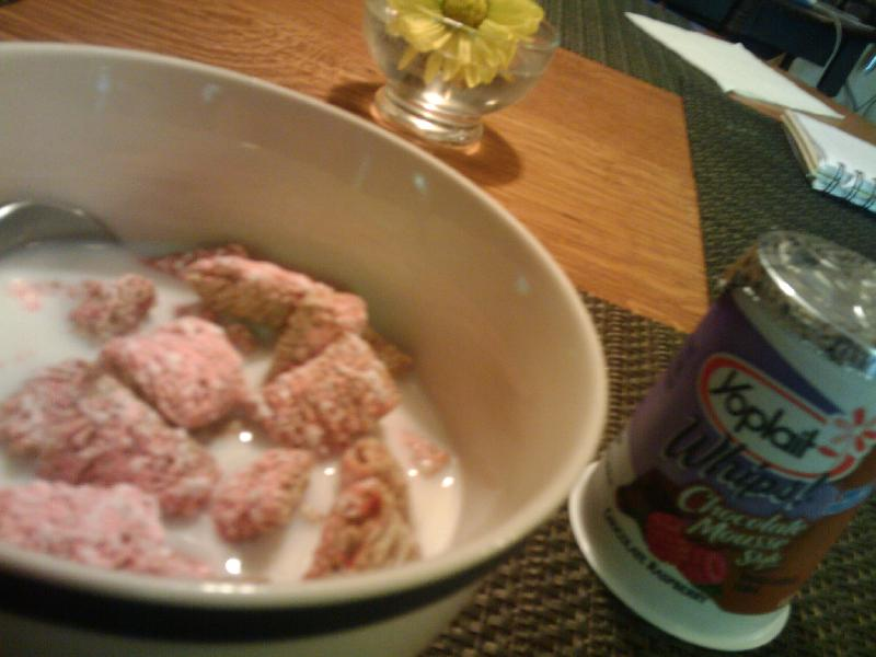 1St Ward  :: Come and get it- Strawberry Delight Frosted Mini Wheats in 2% Milk and Yoplait Chocolate Raspberry Mousse Style