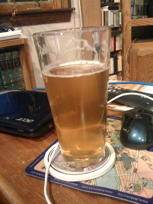 Parents House Milford, NH :: this is a Saison Royale from Harpoon from there Leviathan Series!!!  its strong and not bitter!!