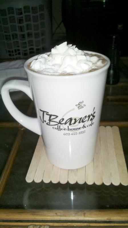our house in New Britain CT :: hot chocolate with marshmellows and whipped cream on top!