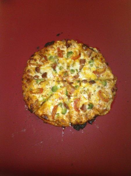 ALLENTOWN,PA :: broccoli,tomato,xtra mozzarella and parm., oregano pizzita