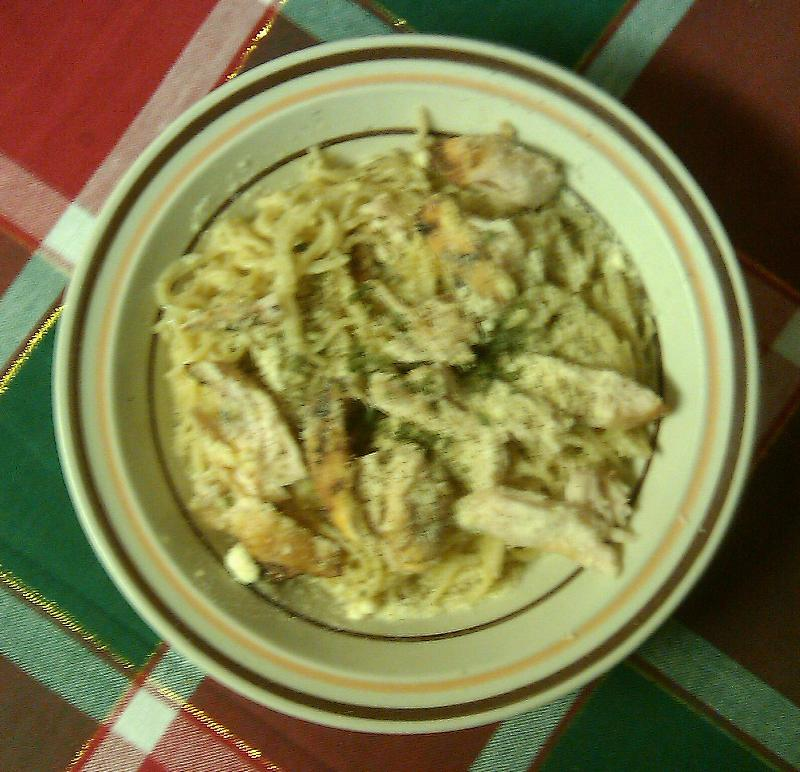 home. Baltimore md :: olive oil, garlic, parsley pasta with grilled chicken. sprinkled with parmesan cheese and parsley.