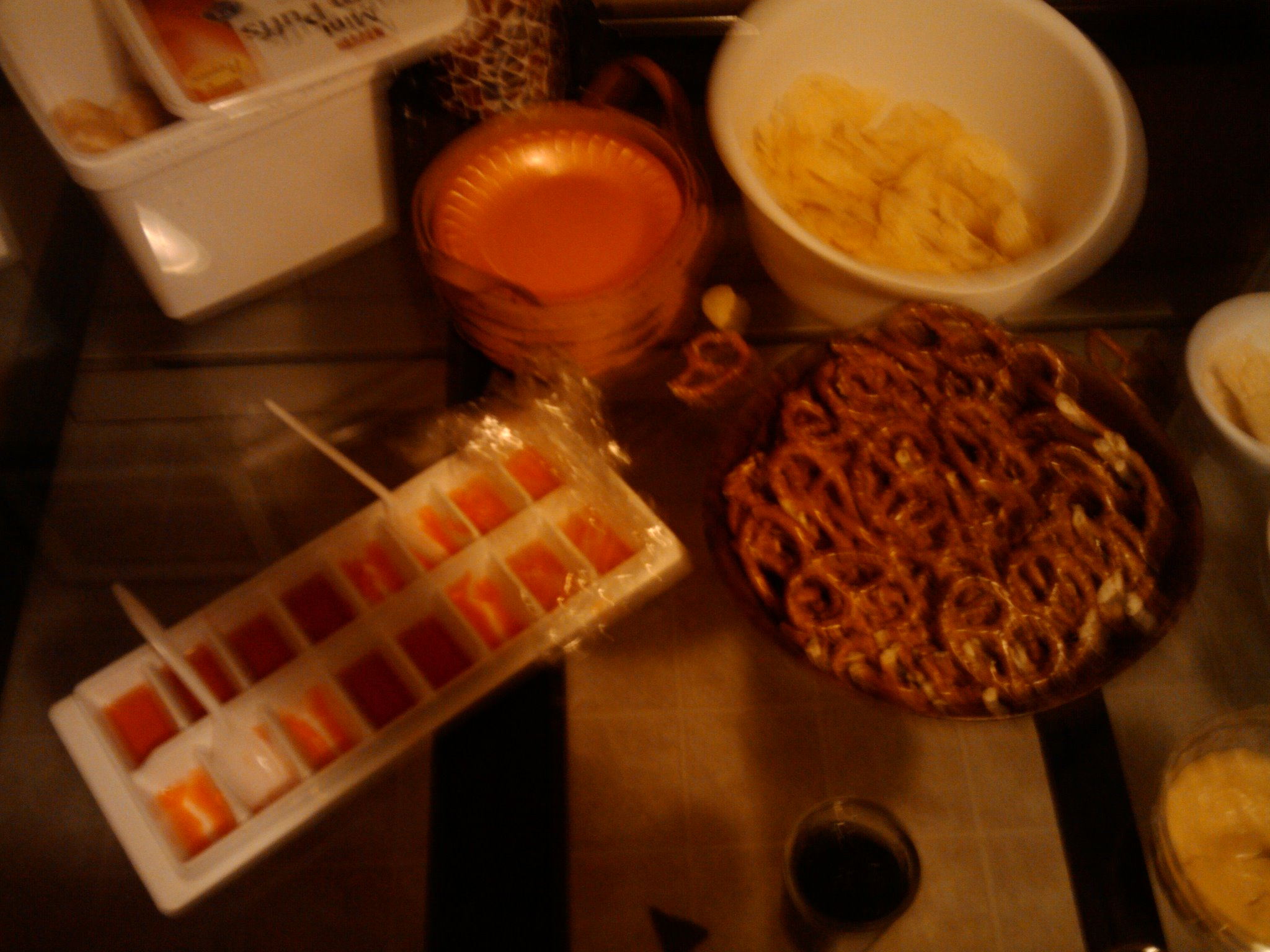 1St Ward  :: jello shots in ice tray, pretzels, potato chips = PARTAYY FAVORITES