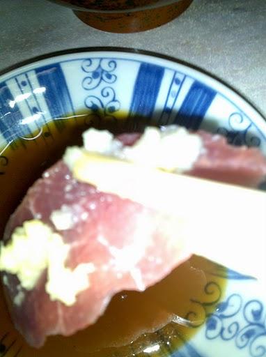 Tomiyachi, Japan :: Horse Shashimi, yes, raw horse meat.