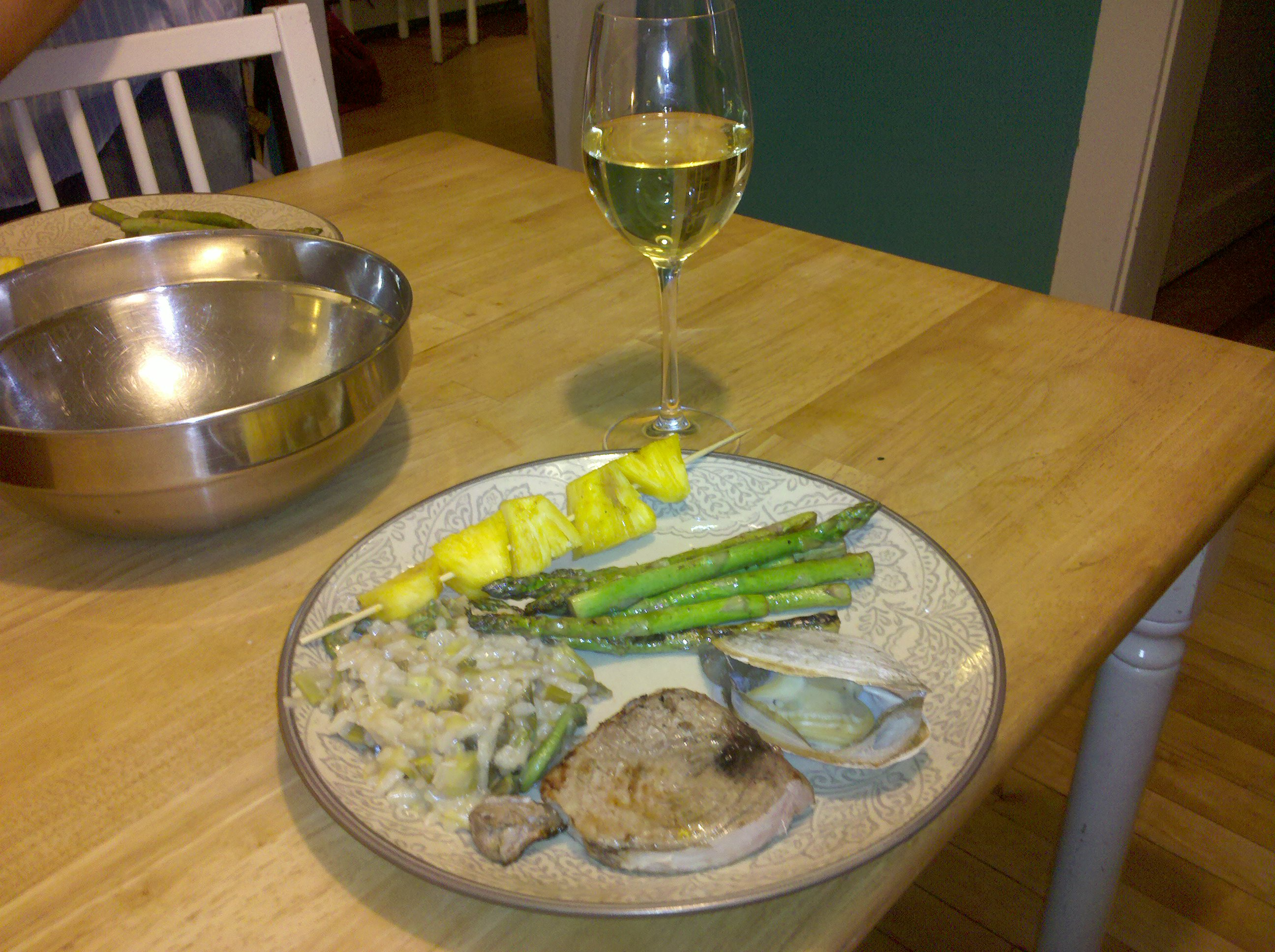 Portland, me :: tuna, wild rice, beginning, wine