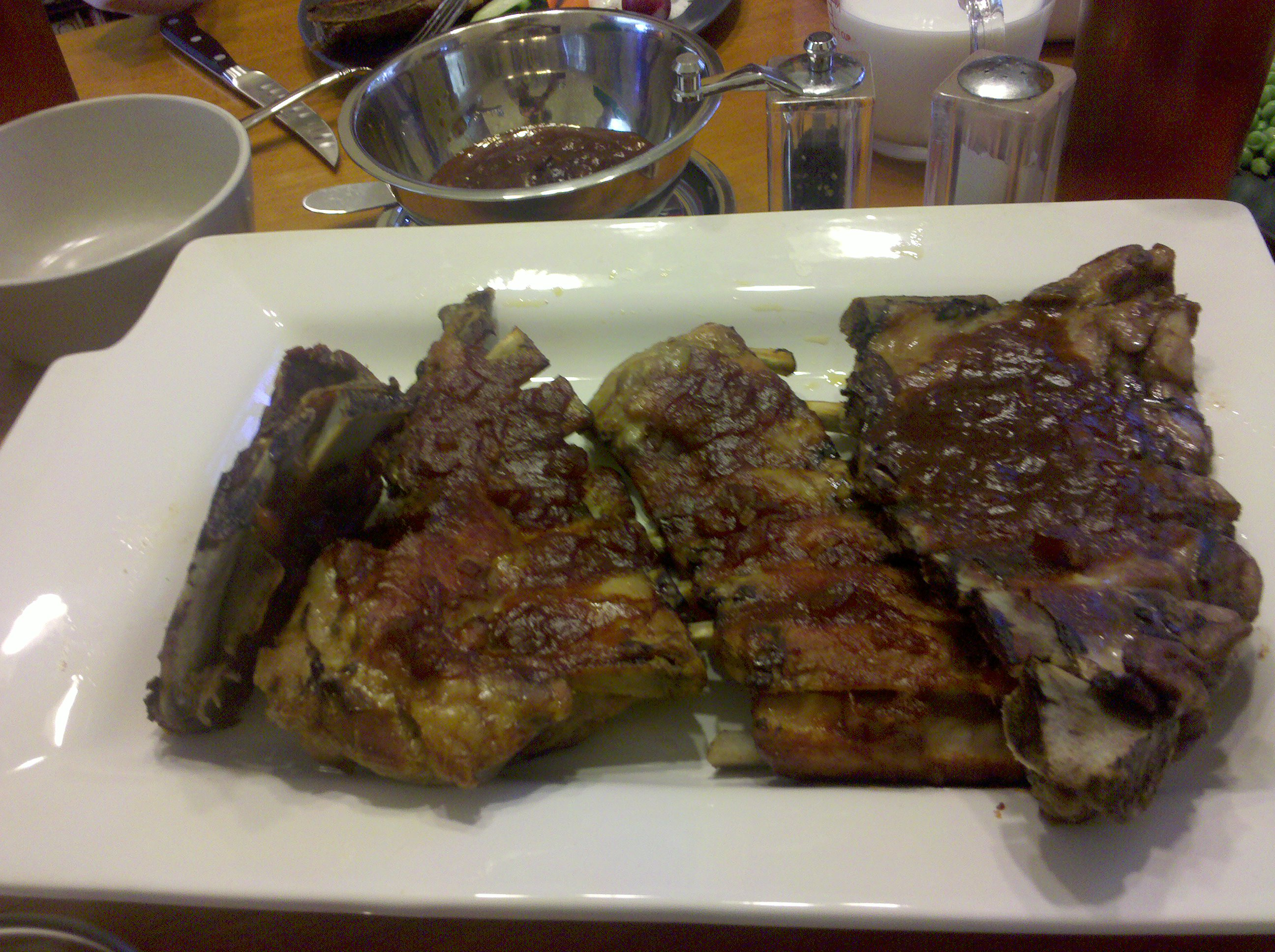 Greenbelt, MD (Eric D is the Chef) :: Pork Ribs in Secret Sause