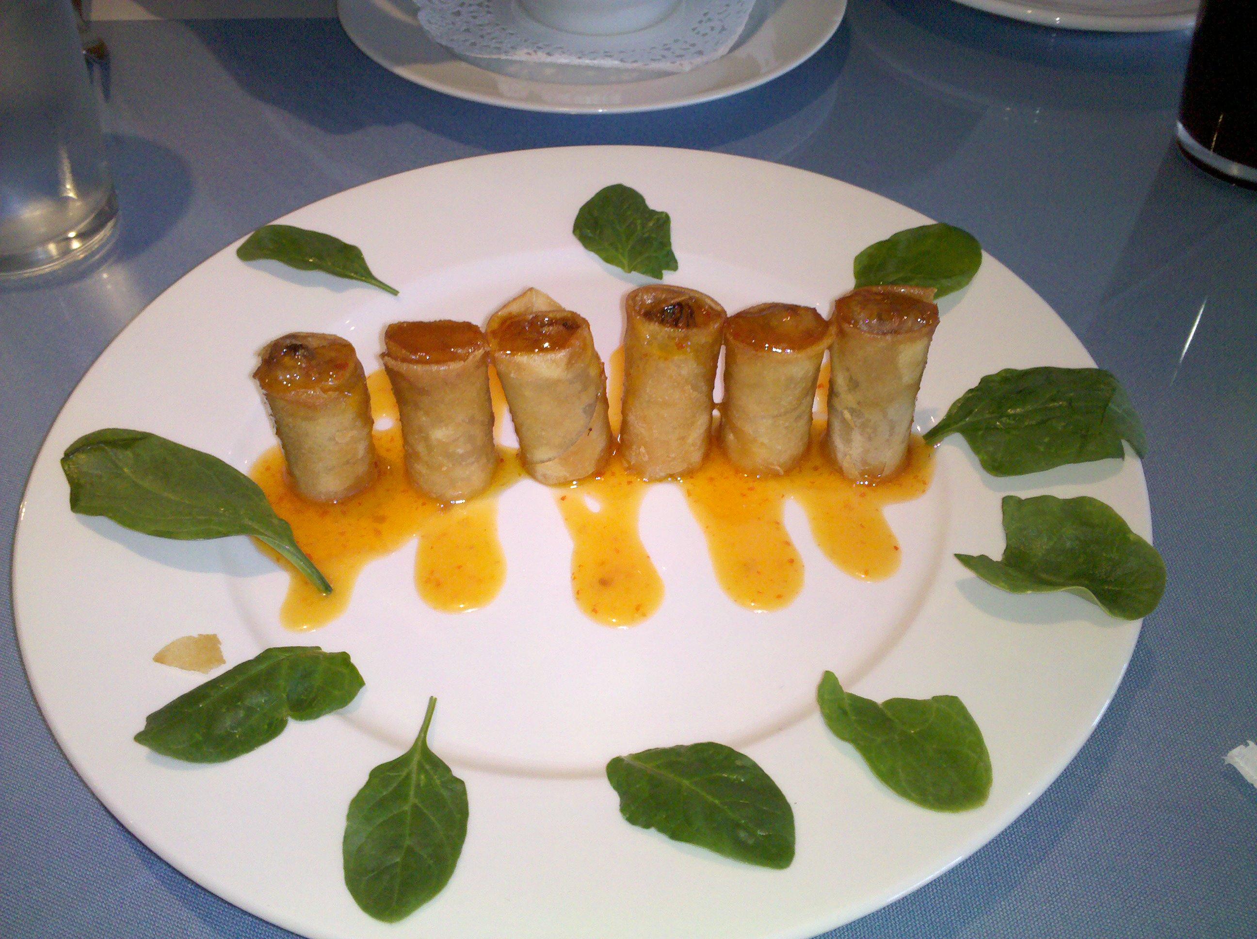 albany :: veggie spring rolls