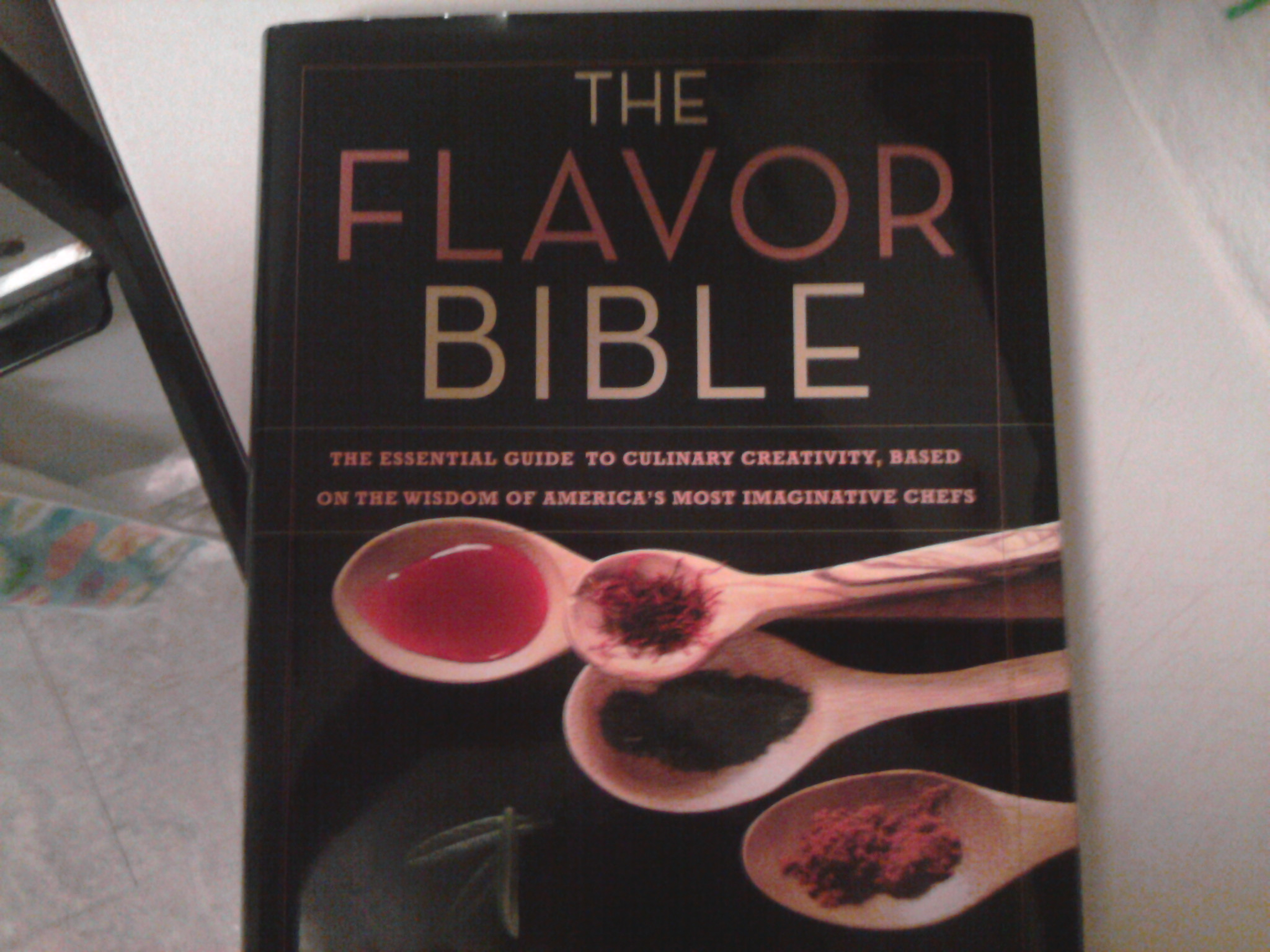 eastern ct :: I highly reccomend this book for anyone who cooks. geat for both at home and professional. gives each main ingredient and pairs it with every possible combination of other ingredients to go with it.
