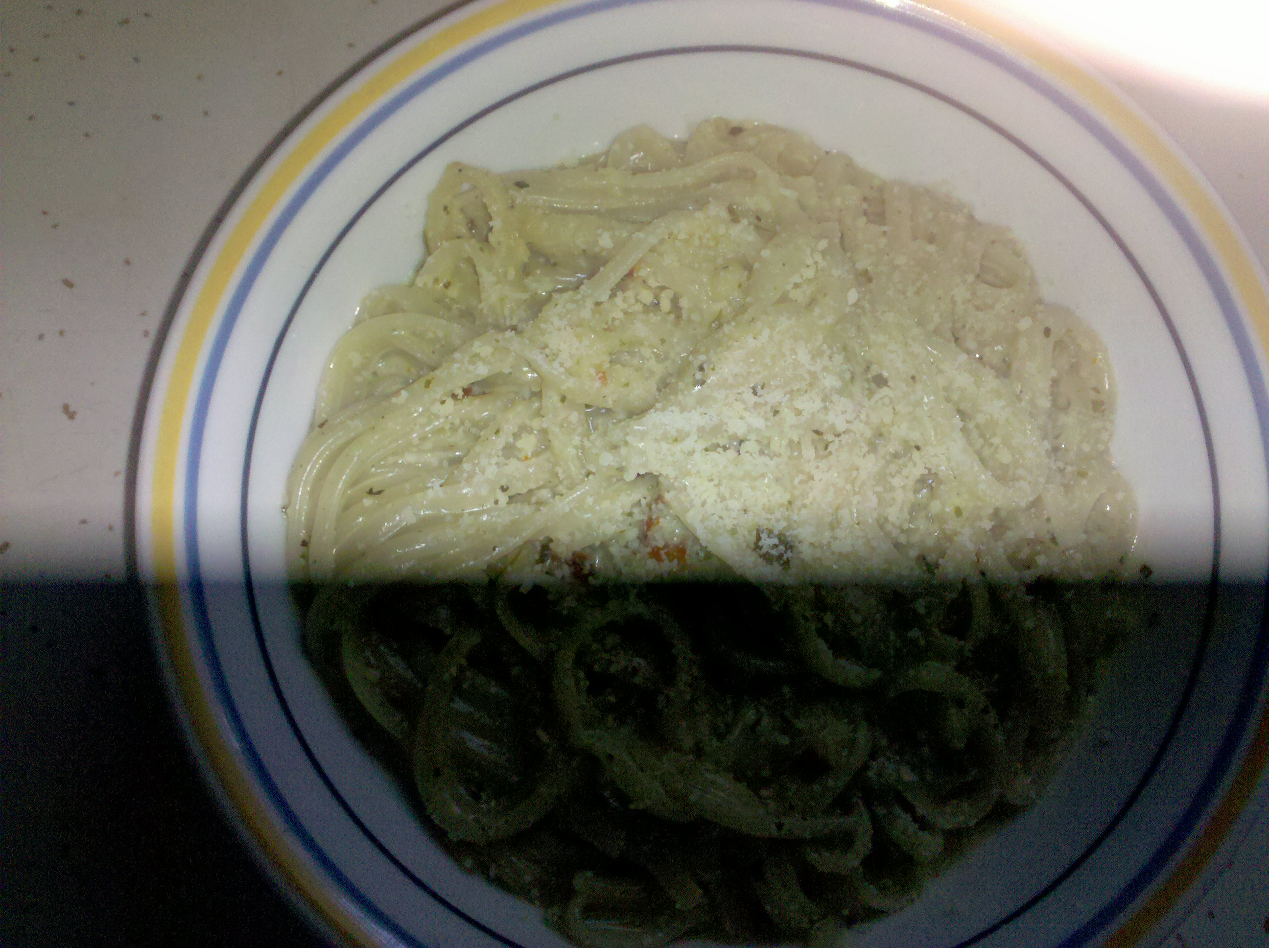 home central Illinois  :: creamy Basil linguine. so creamy and good