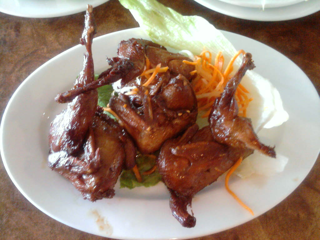 eastern ct :: roast quail at pho boston in wet hartford ct. great place and cheap
