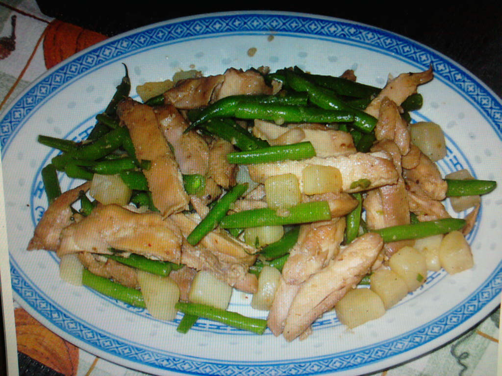 eastern ct :: chinese 5 spice chicken with green beans and diced potato