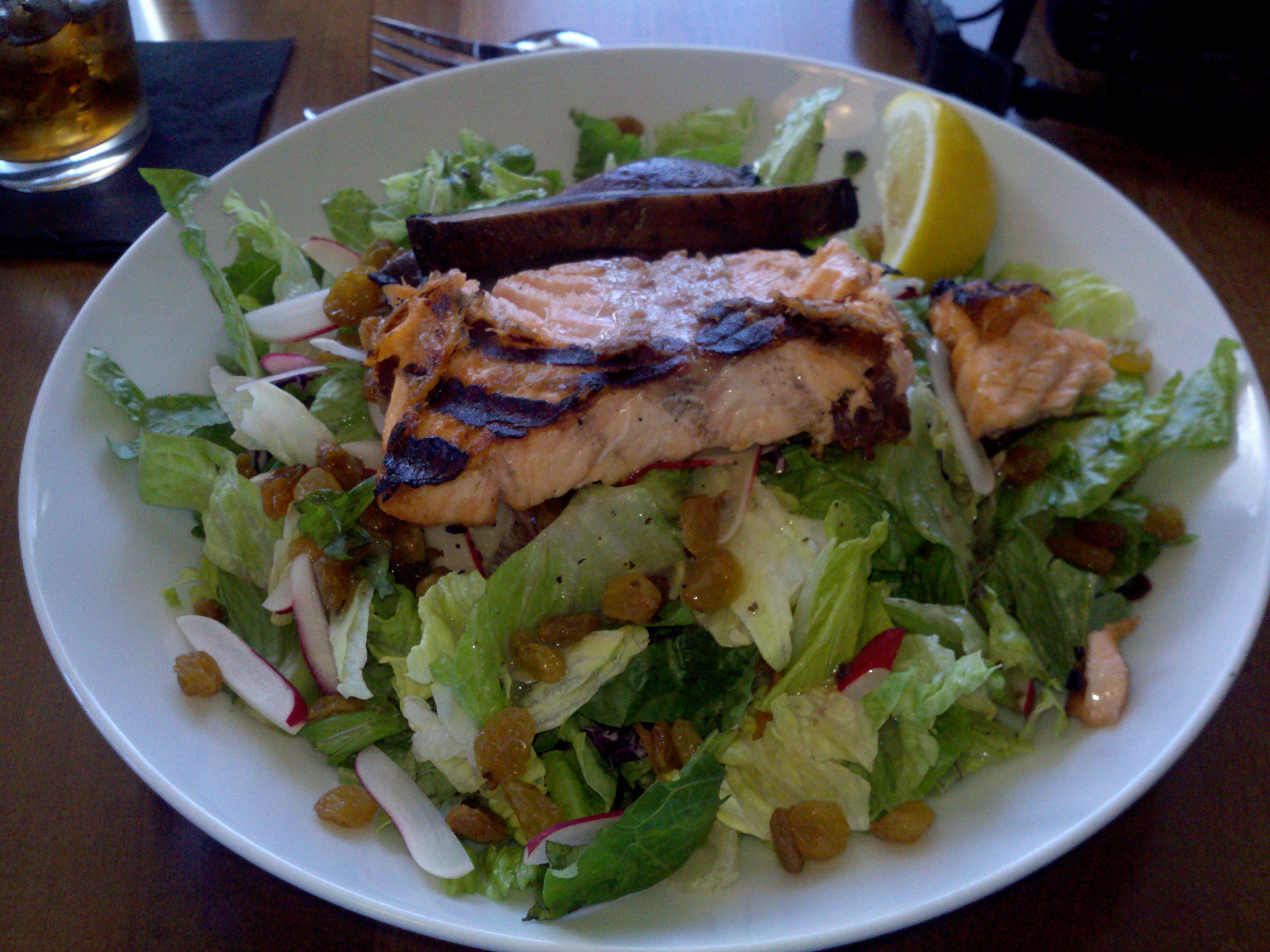 Hampton Beach, NH :: Salmon salad