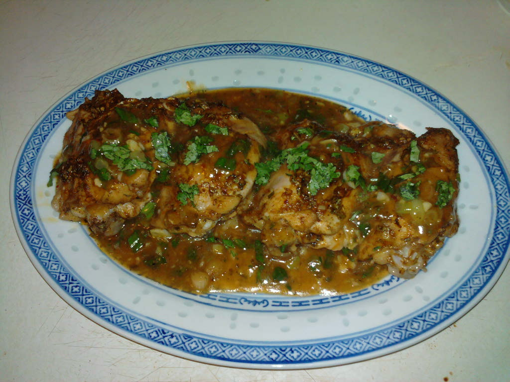 eastern ct :: cilantro lime roasted chix thighs