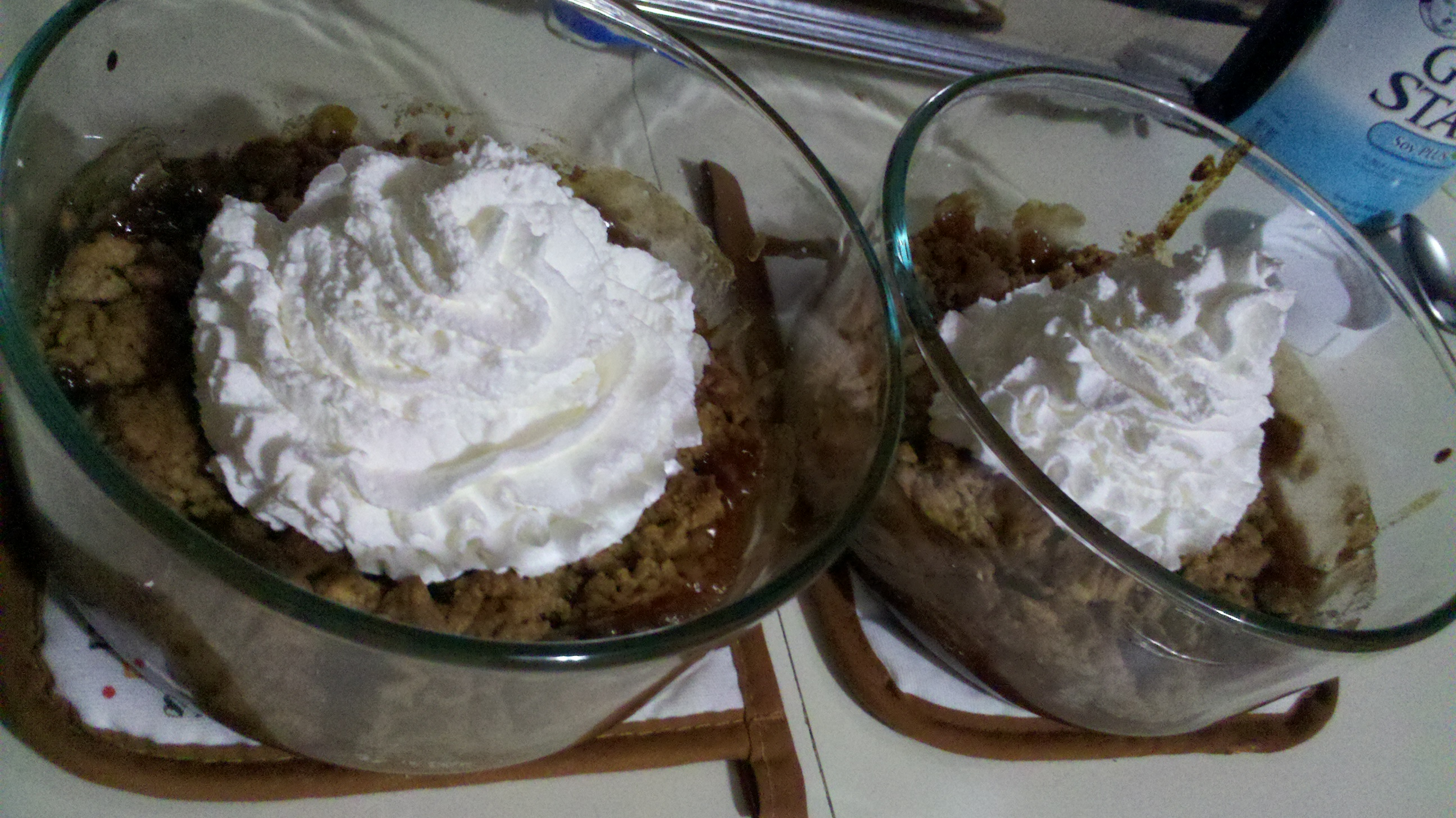 New Britain CT :: Yummy apple dessert I made today with apple pie like apples, a crumb topping and some whipped cream for fun! tastes awesome!