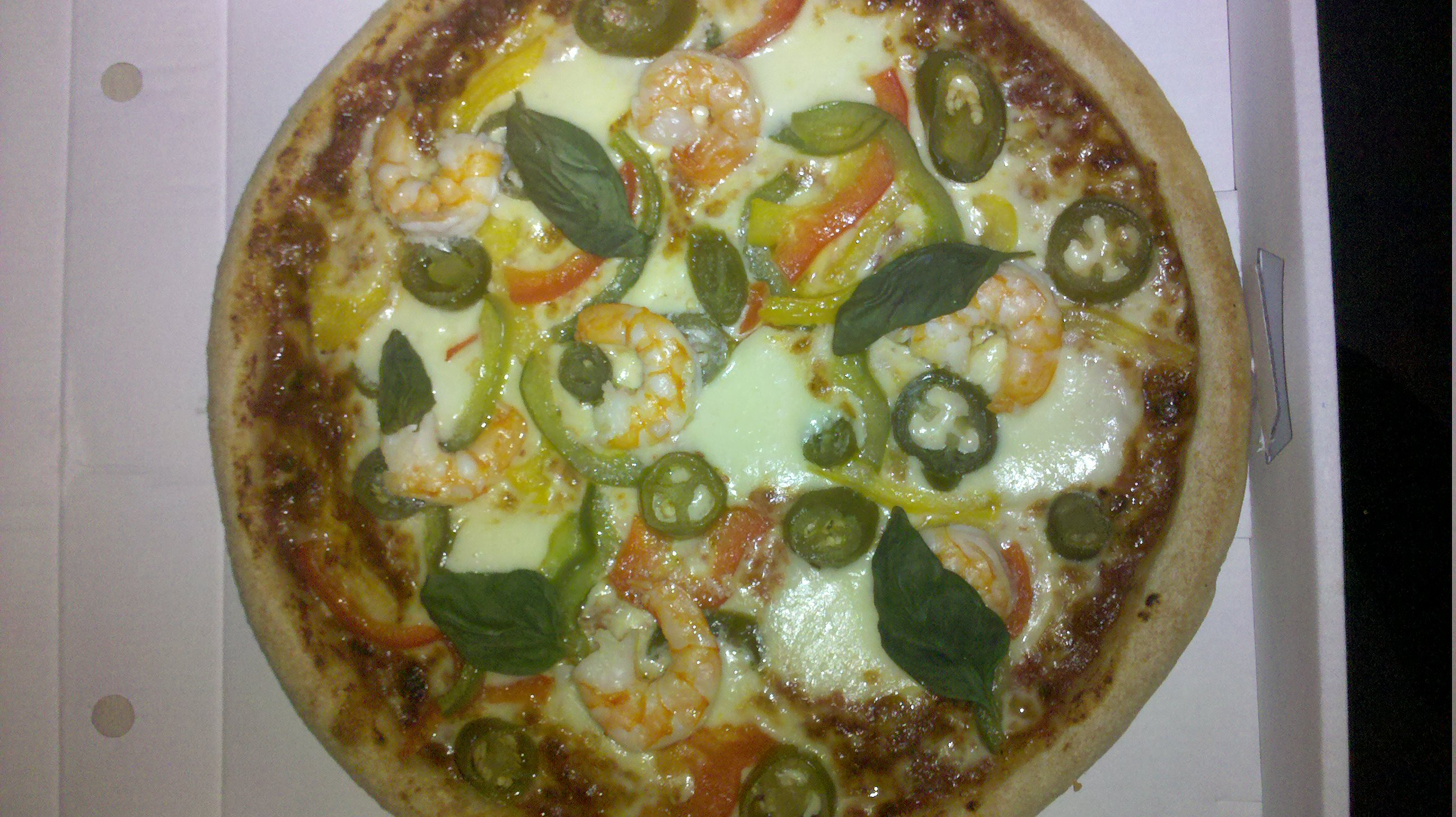 at work, germany :: pizza scampi piccanti von joeys pizza