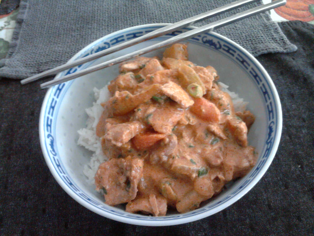 eastern ct  :: chicken curry over rice for a chilly day