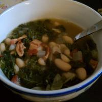 cannellini, kale, and Bacon soup
