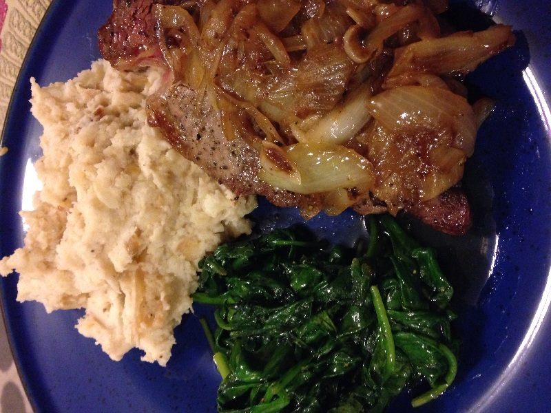 Home :: Steak greens potato