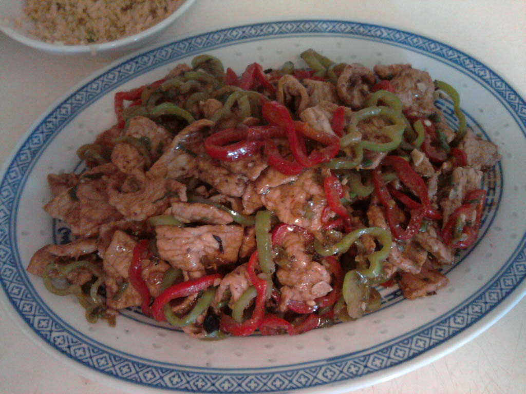 eastern ct :: chinese pork with fermented black beans and spicy peppers