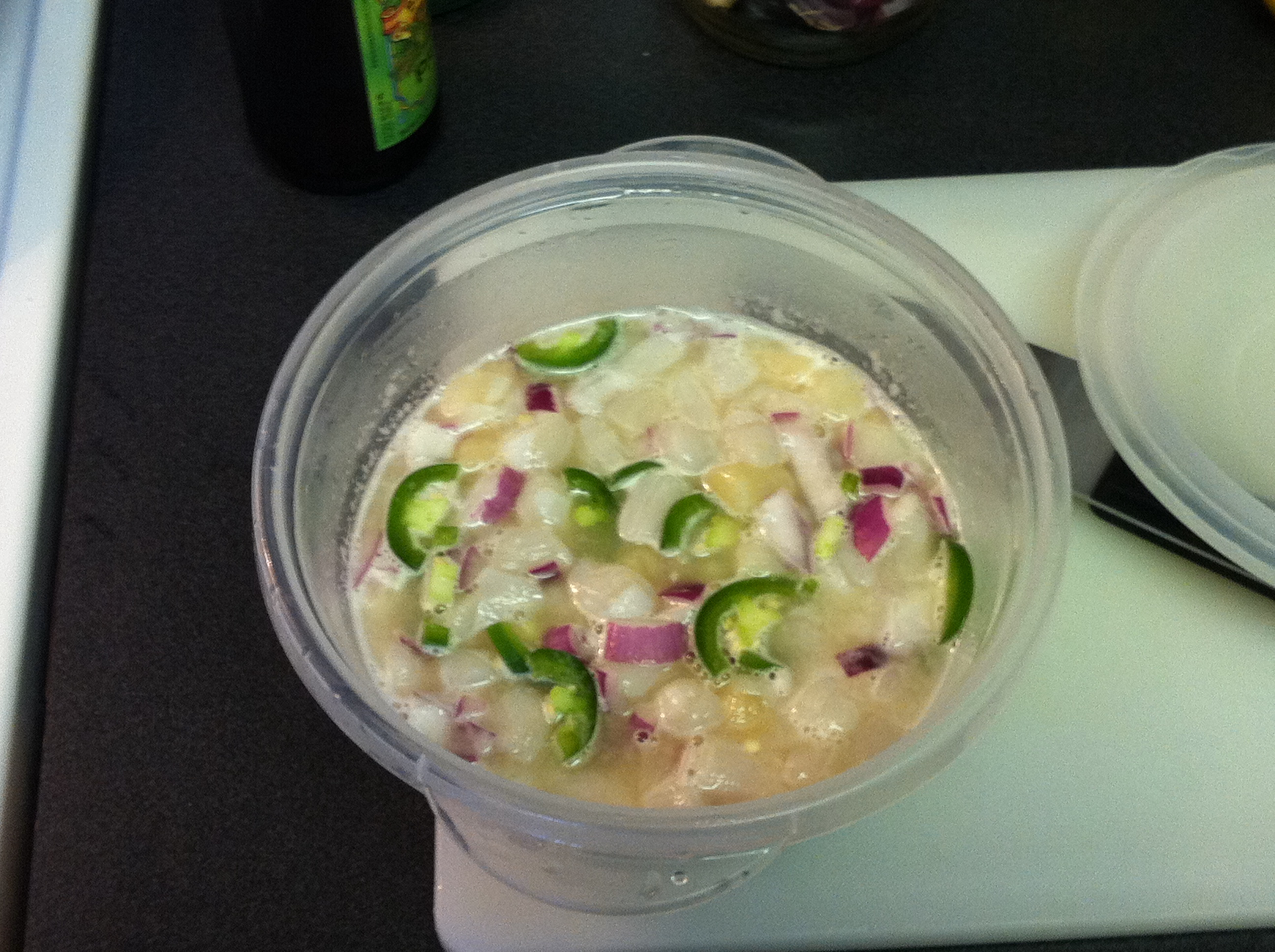 Austin, TX :: Bay scallops Ceviche w/ red onions and jalapeño pepper