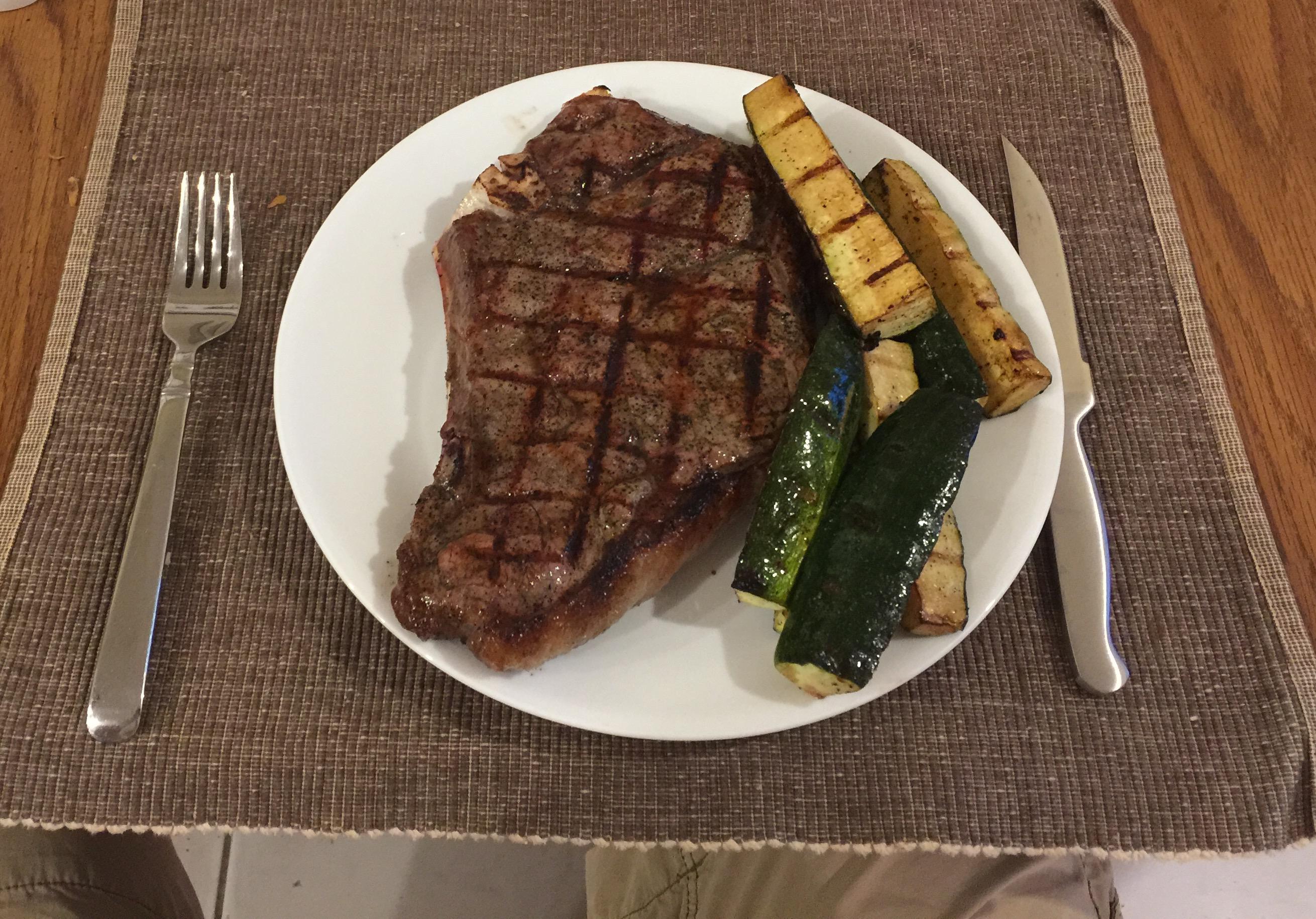 Home Plainville CT :: seasoned steak and zucchini