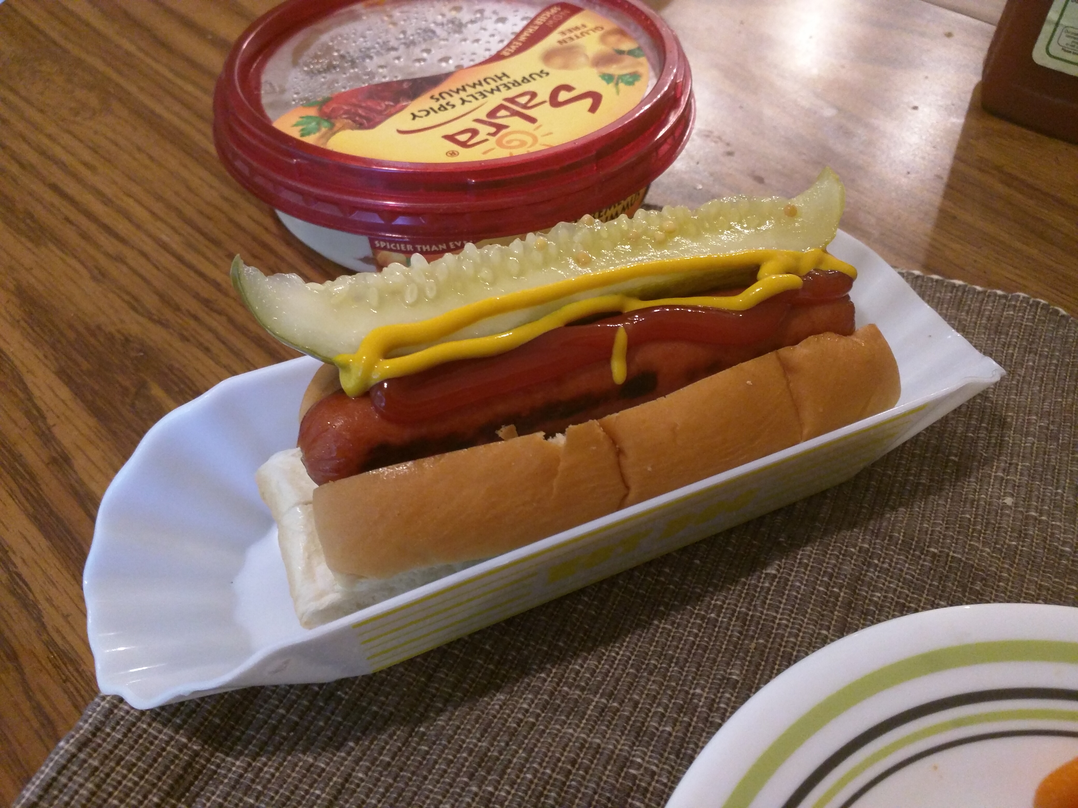Home :: Hotdog with pickle spear
