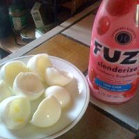 Nothing beats 4 egg whites and Fuze 10 calorie drink for breakfasst!!!