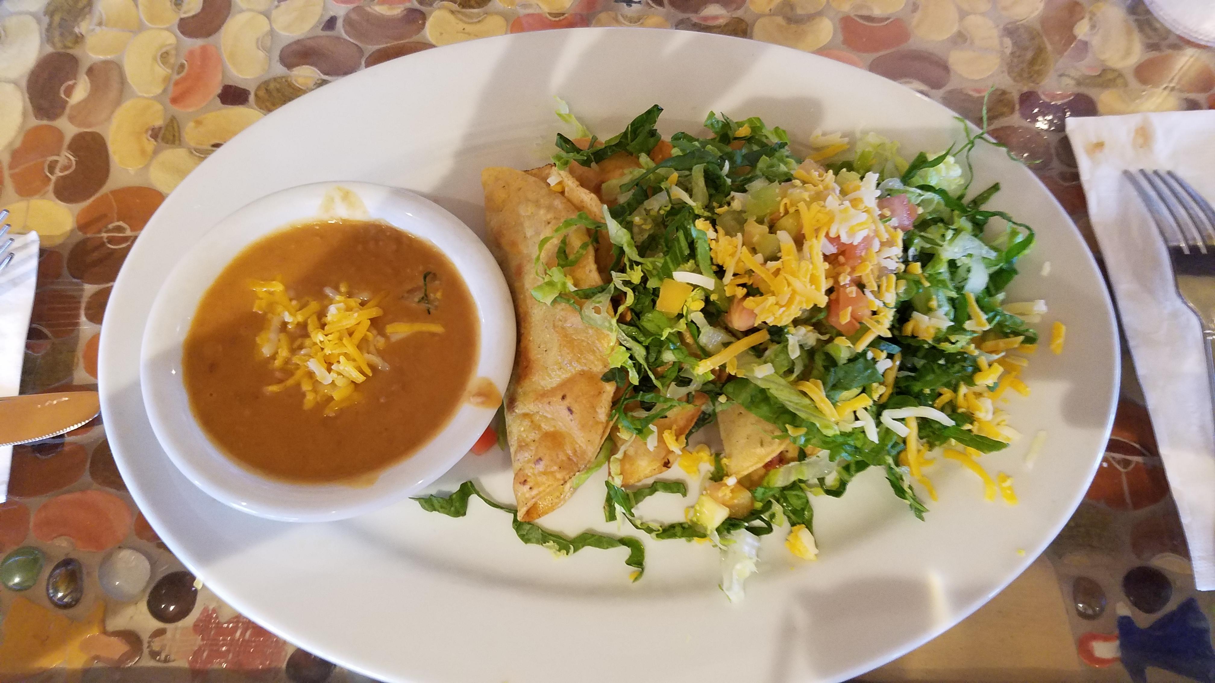 Theresa's Mosaic Cafe, Tucson, AZ :: Angus Muchahos beef tacos.
