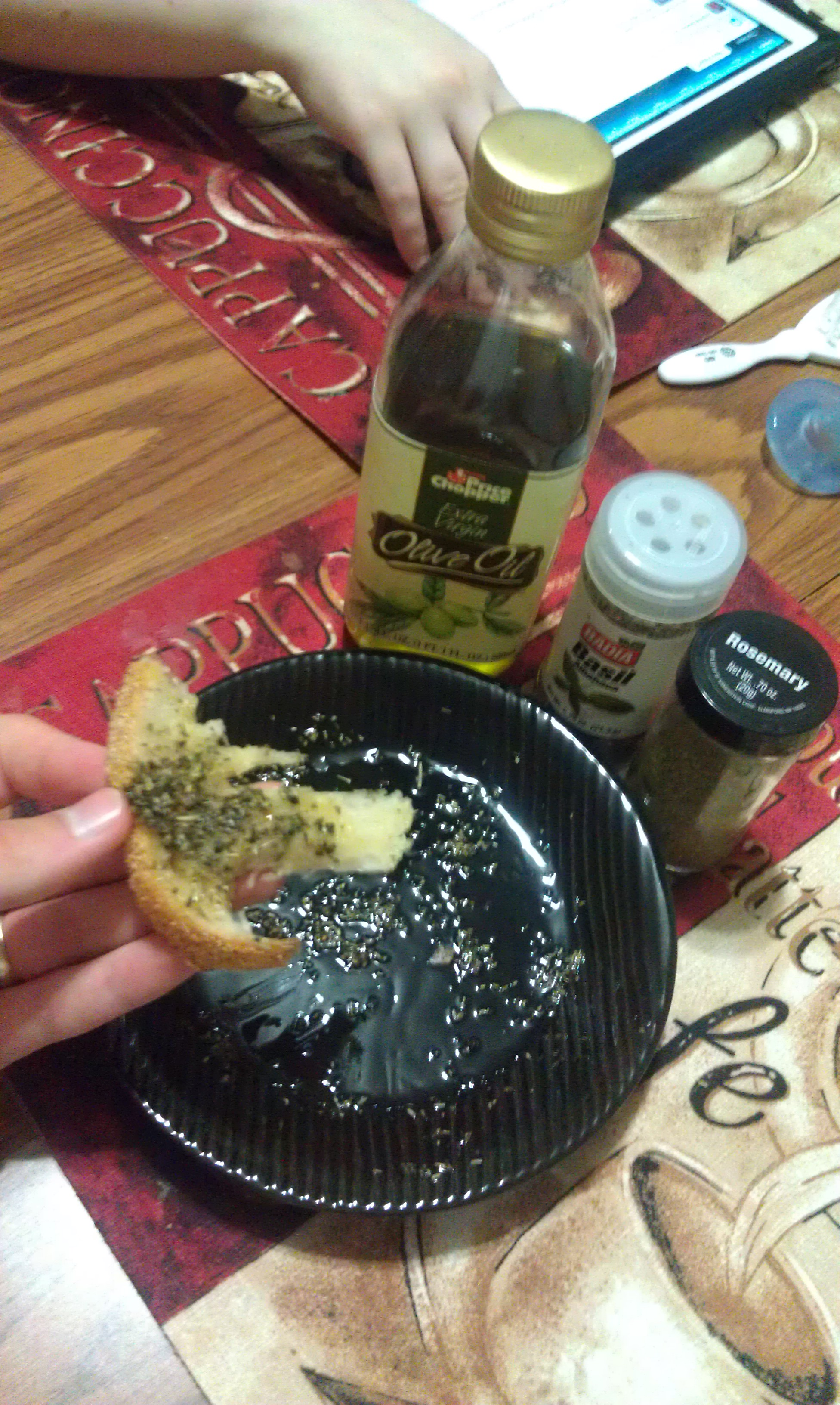 new britain ct :: rosemary olive oil with oil dip and fixings