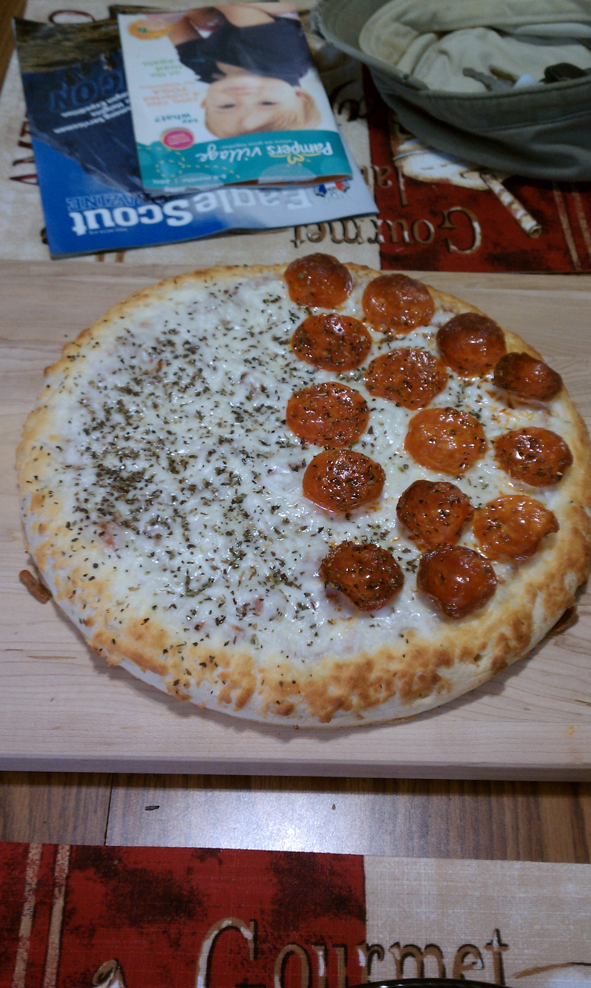 new britain CT :: price chopper frozen pizza with added goodies