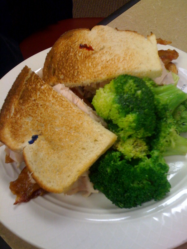 Marriott Calf :: broccoli and a great Turkey Club sandwich!