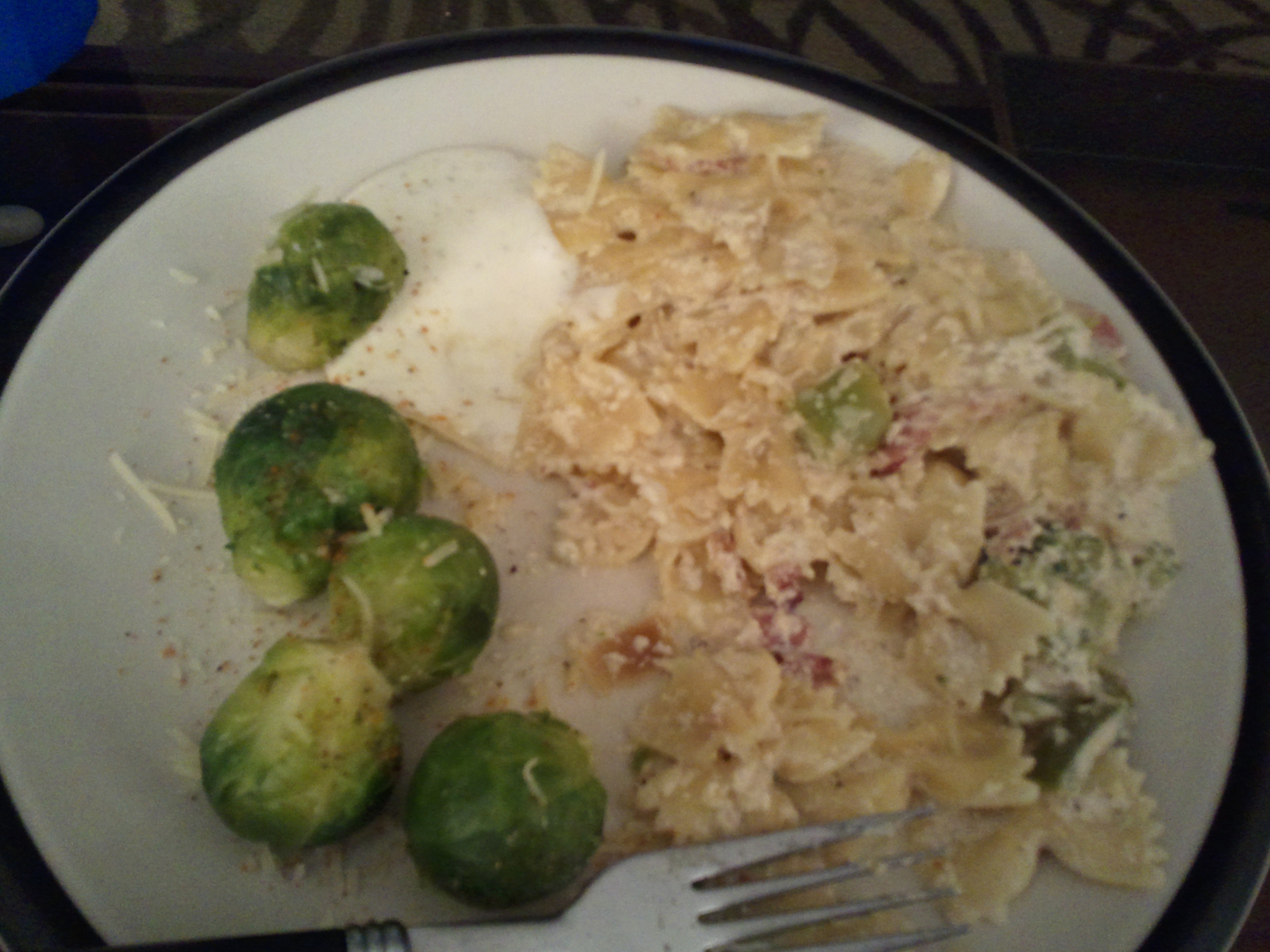 Dallas Texas :: fettucini alfredo with brussel sprouts