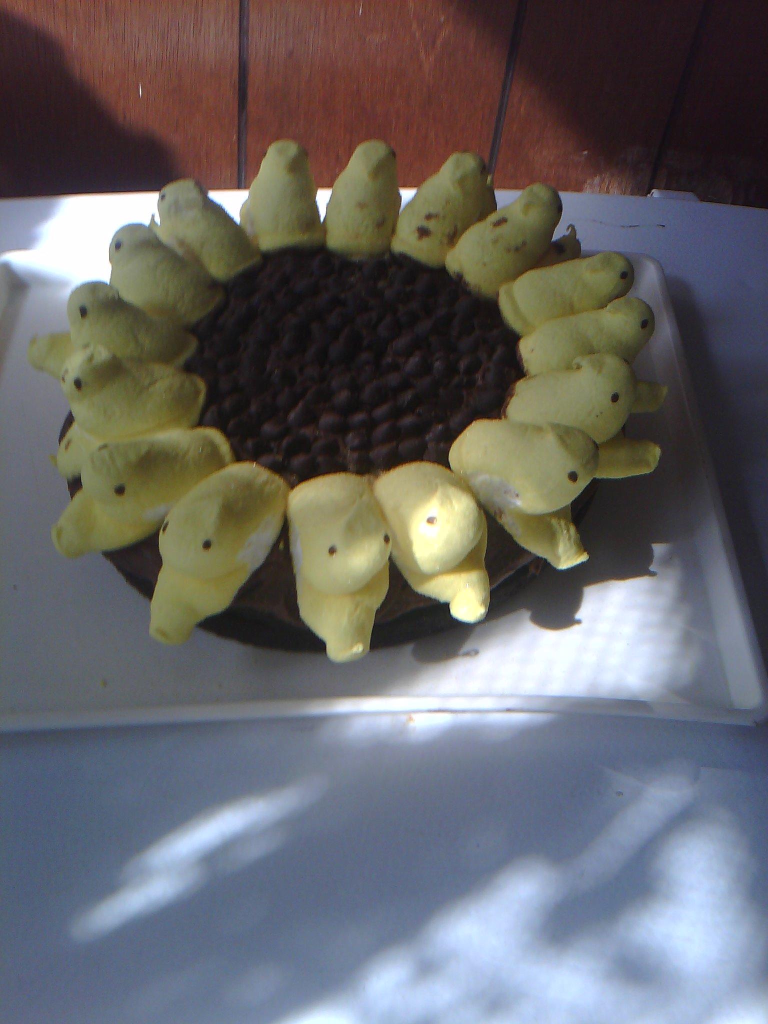iowa :: peeps sunflower cake