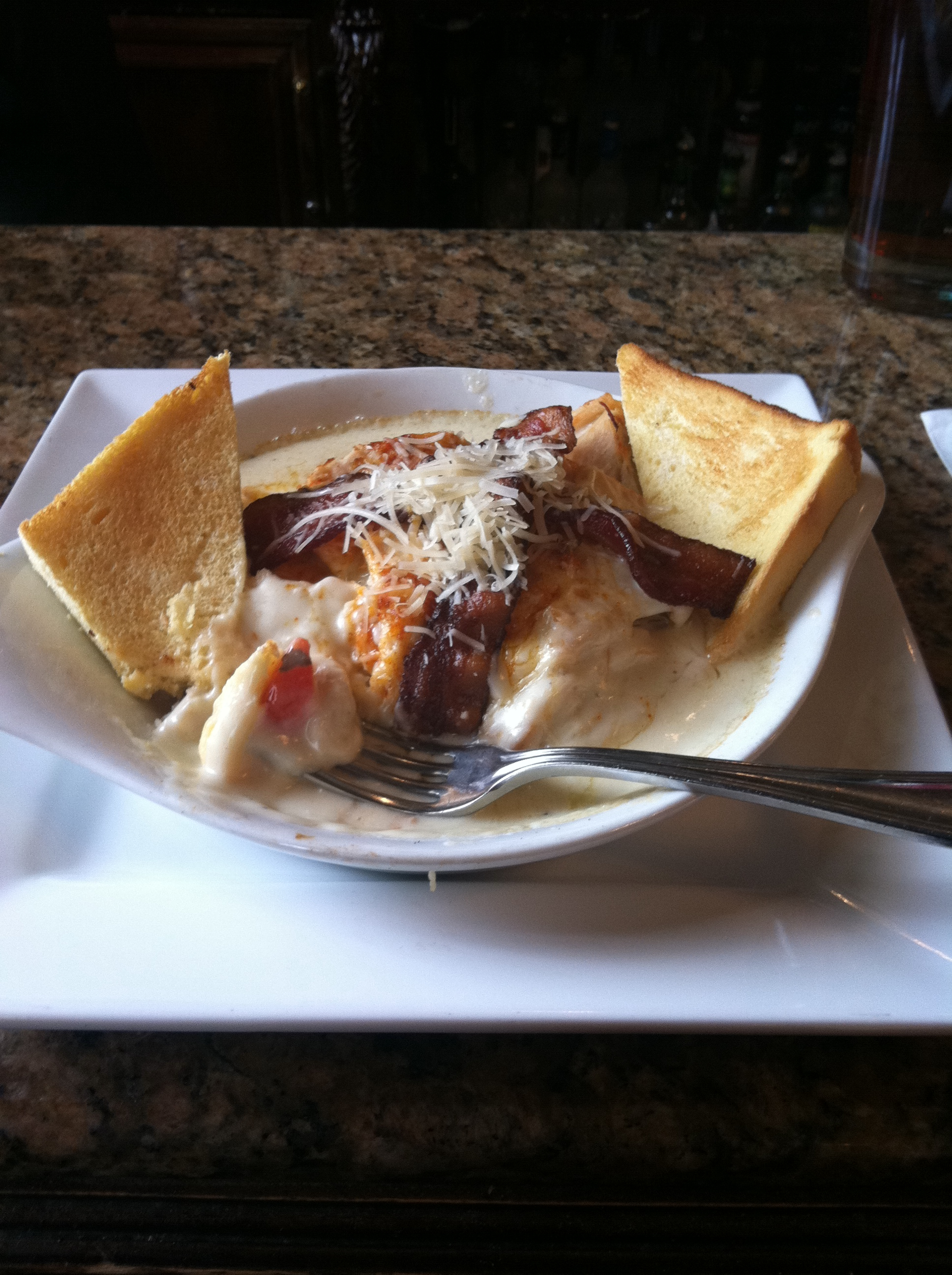 "Louisville, KY :: ""The brown"" turkey breast tomato, bacon, mornay sauce and toast"