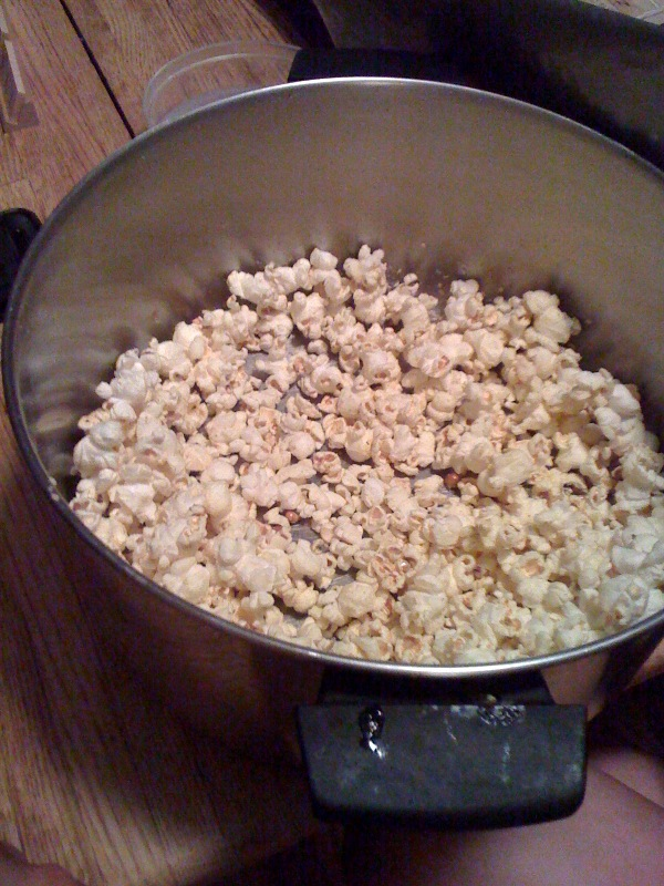 My House Cambride, MA :: This pop-corn had some spice to it and it was good!
