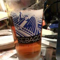 some Sebago beer in a Sebago glass... I think it was the Fry's Leap IPA