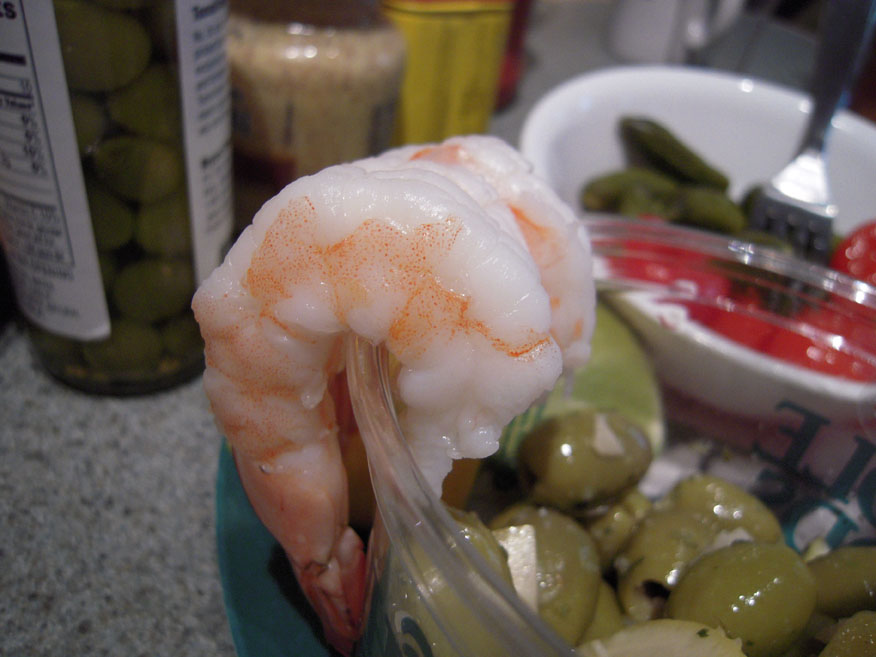 Erika's place in Cambridge, MA :: SHRIMP COCK-TAIL!!! everyone loves a good shrimp!!!  I showed up late so I only ate a few.... note to all of you shirmp lovers out in the world... if they are going to be serving shirmp... GET THERE EARLY!!