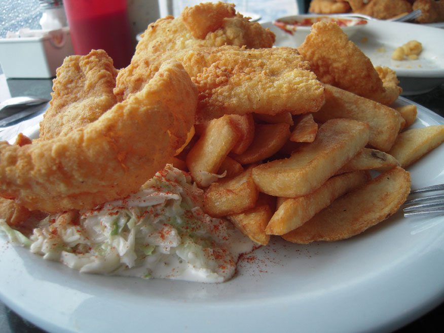 York Maine :: Fish and Chips Maine style! the fries were cold... the fish was fresh and hot! Boo for cold fries!!!