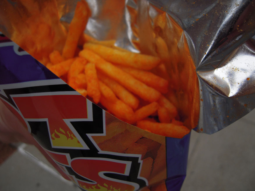 Cambridge, MA :: These Hot Fries were good! And I ate the whole bag! And they only cost .99!!!