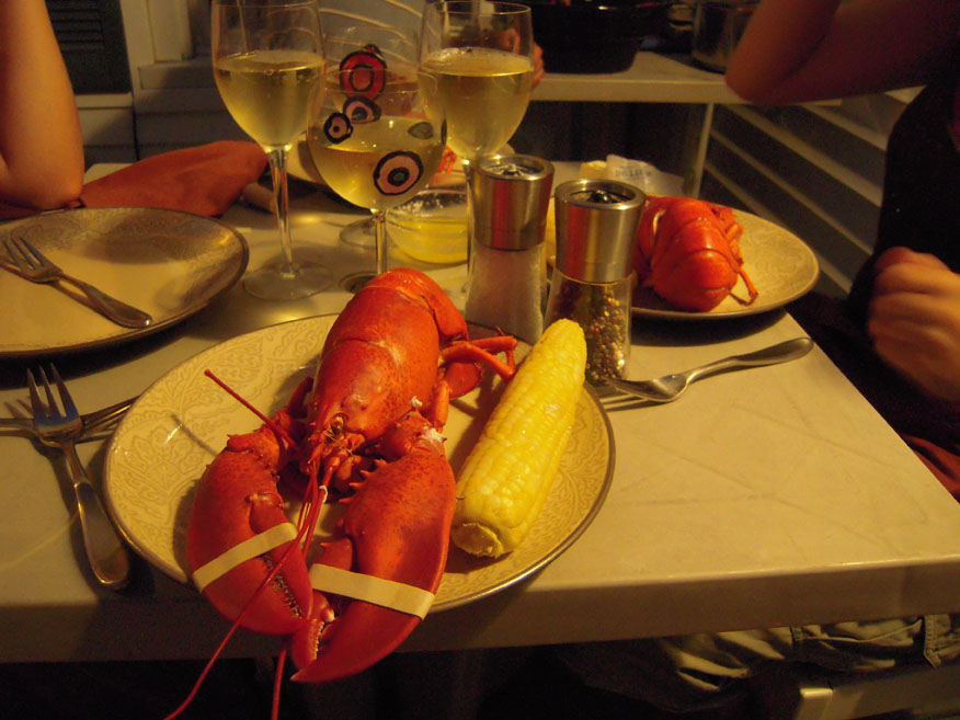 Brothers house Portland, ME :: Harry is the Lobster and Sally was the corn... I ate both of them...