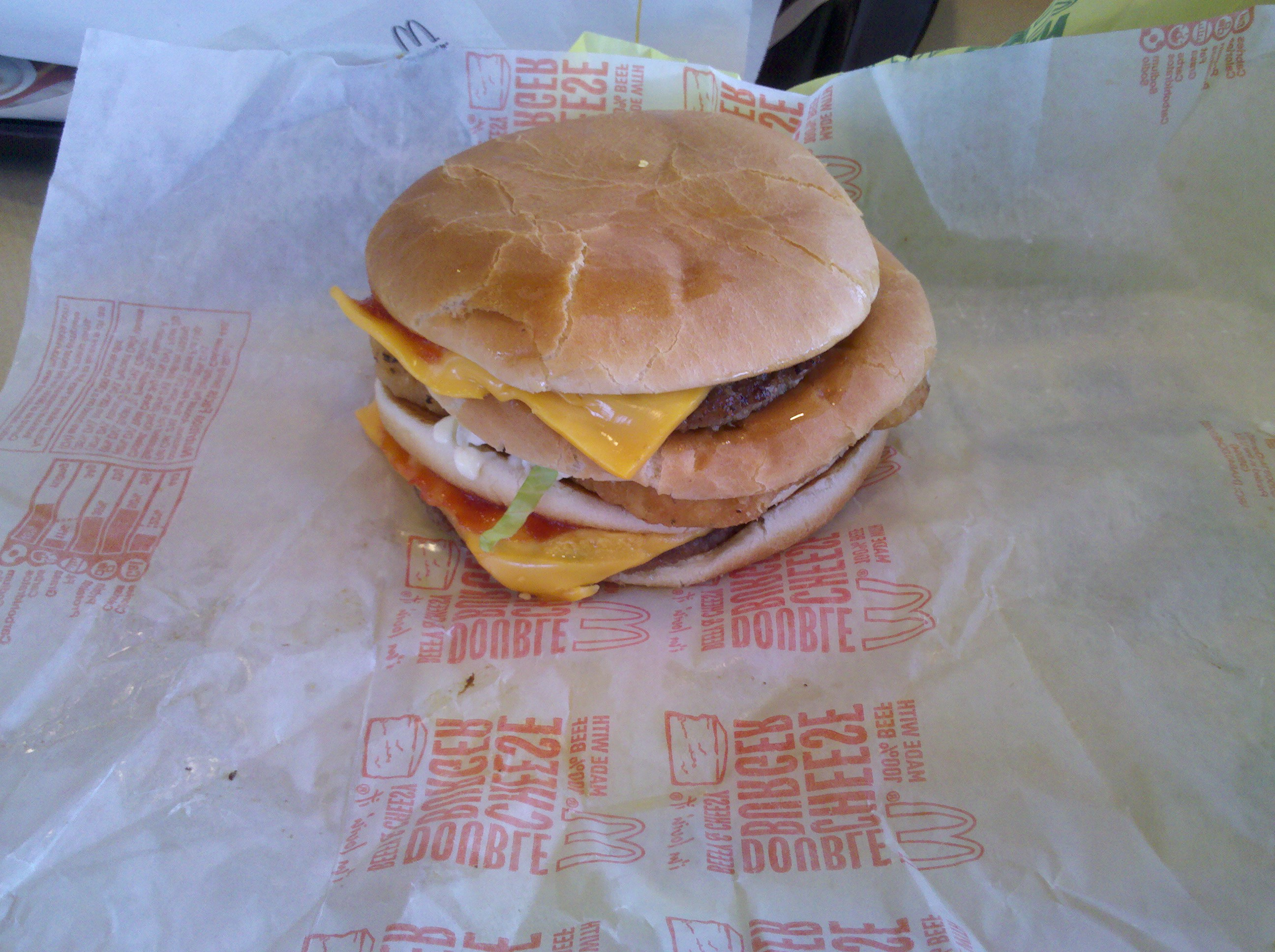 Valdosta :: McGangbang from McDonald's. double cheeseburger with a mcchicken in tbe middle