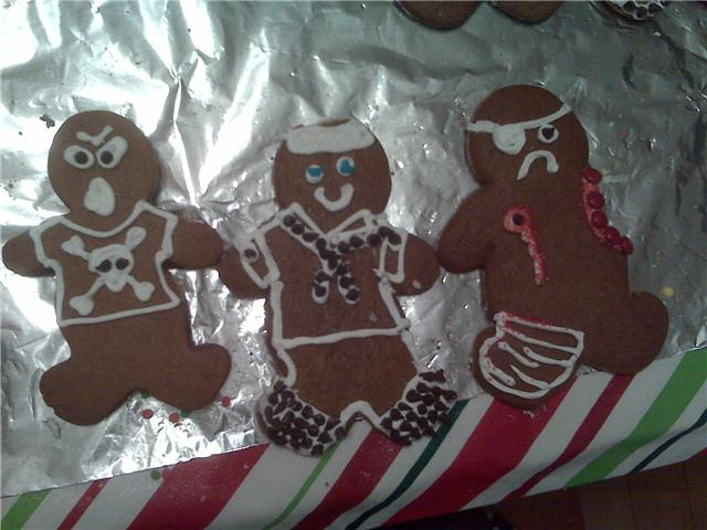 My house, Rochester, NH :: I made the twisted gingerbread men and I ate them too