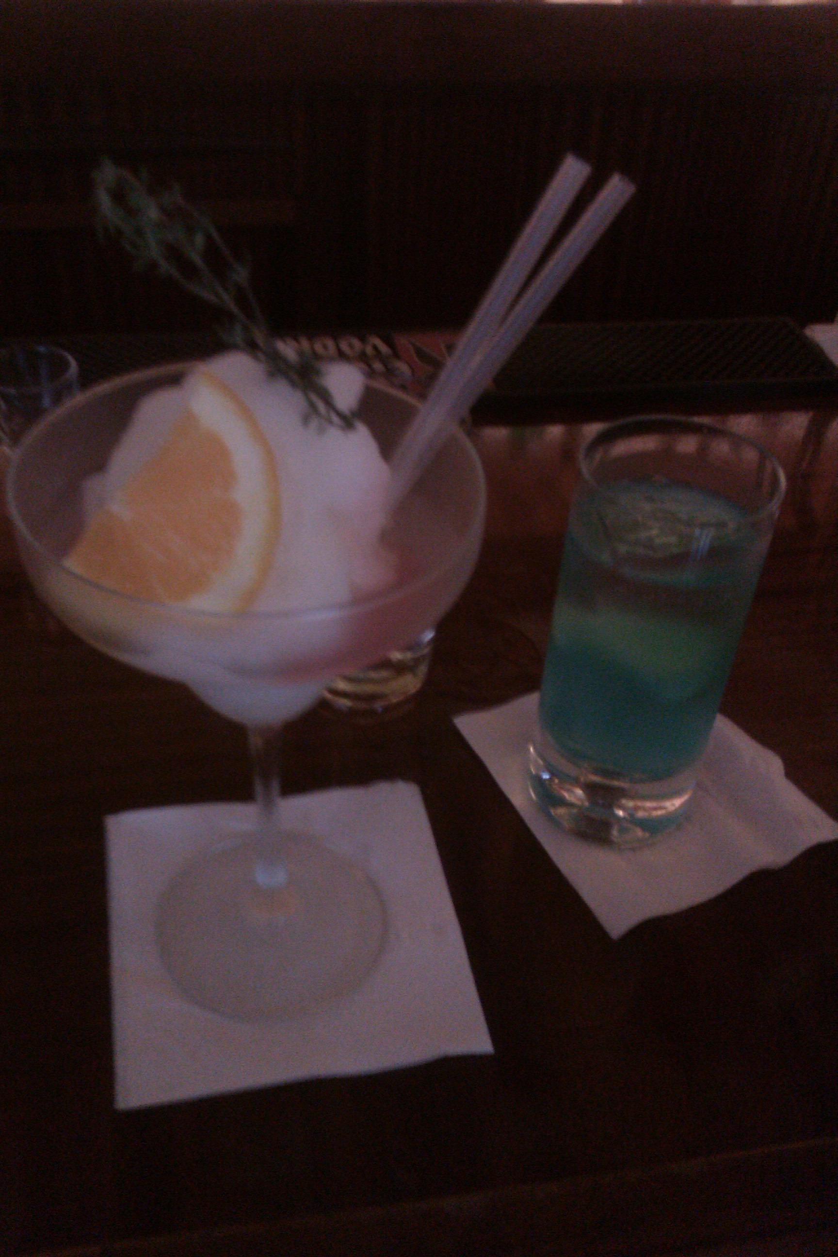 Angel Share, NYC :: blood orange liqueur slushi