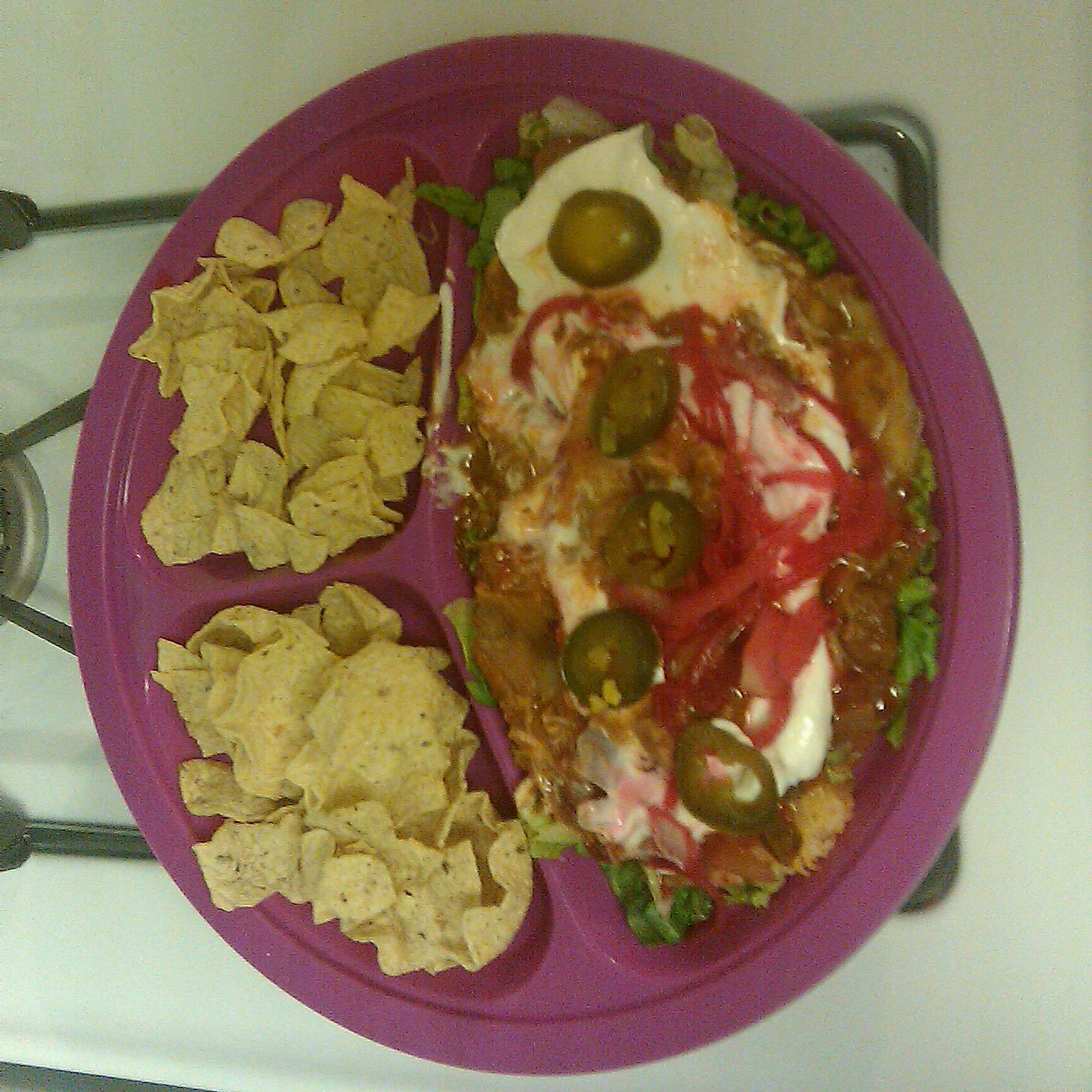 home Baltimore md. :: low fat turkey chili dip with baked scoops
