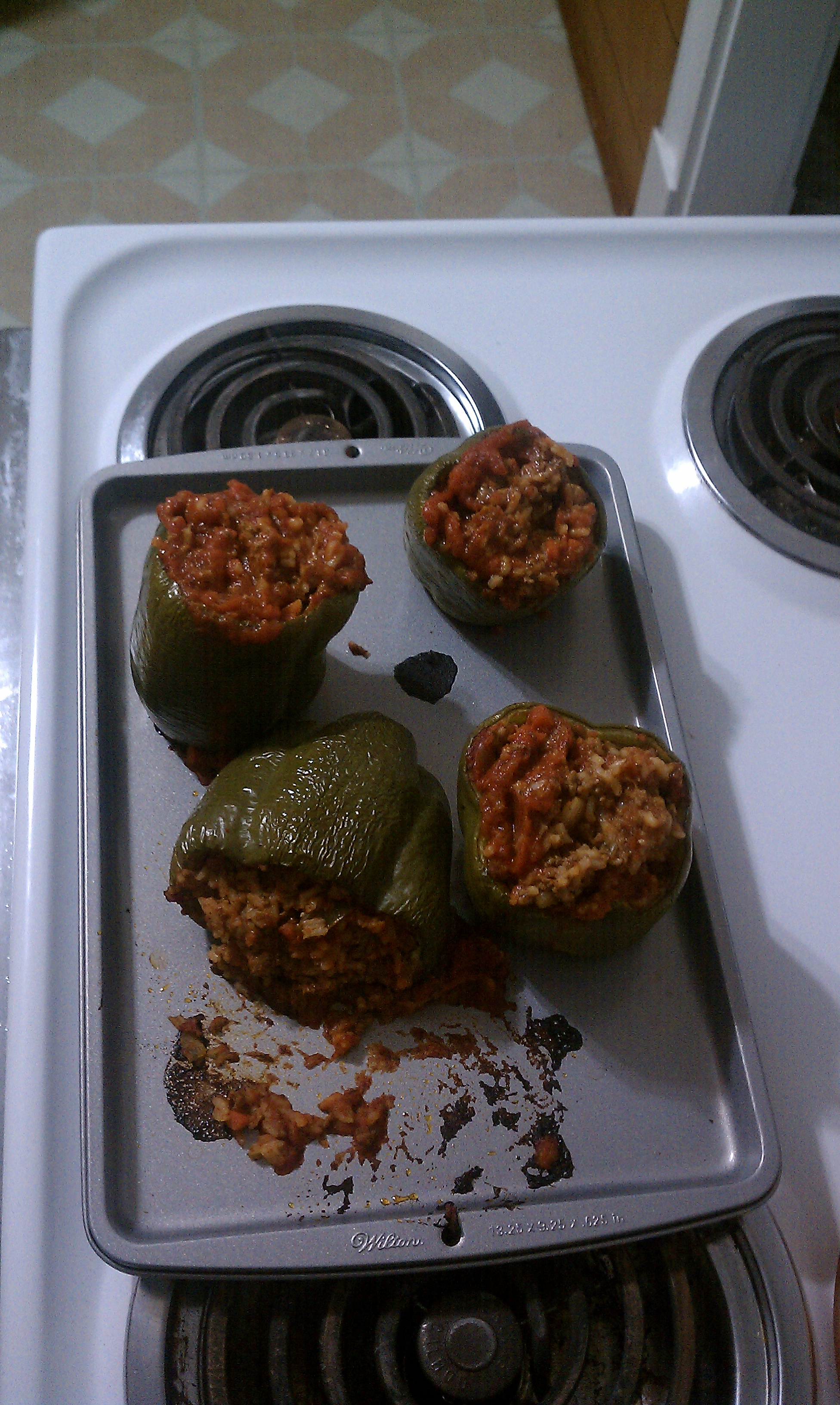 New Britain CT :: Some really yummy stuffed peppers. mmmm so good :) they got a little messy, and one fell over haha but still really yummy :)